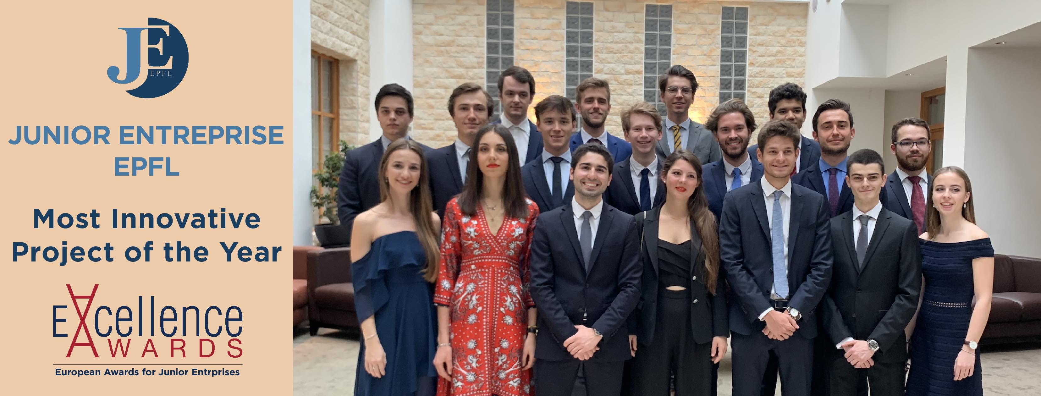 La Junior Entreprise EPFL remporte le prix du projet le plus innovant d'Europe.