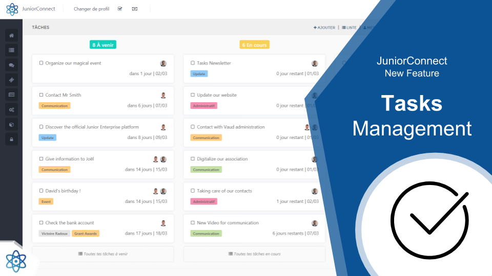 How you can get everything organized with the new task management system !